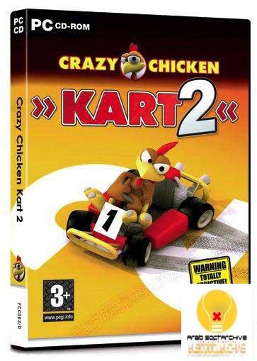 لعبة سباق سيارات الدجاجات المجنونة /Crazy Chicken Kart 2
