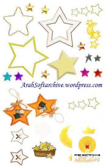 مجموعة متنوعة من صور النجوم جاهزة للإستعمال في التصميم