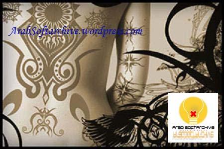 فرش رسم على شكل زخرفاتوشم