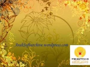 مجموعة جديدة من الفرش على شكل أزهار وأوراق شجر وزخرفات
