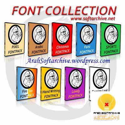 9 مجموعات من الخطوط الجديدةوالمتنوعة/Fonts