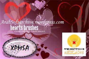 مجموعة من الفرش على شكل قلوب لبرنامجالفوتوشوب/Brushes